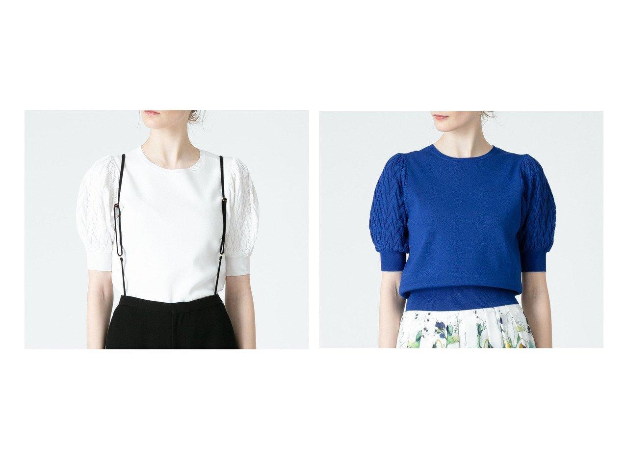 【allureville/アルアバイル】の【LOULOU WILLOUGHBY】レーシーパフプルオーバー 【トップス・カットソー】おすすめ!人気、トレンド・レディースファッションの通販 おすすめで人気の流行・トレンド、ファッションの通販商品 インテリア・家具・メンズファッション・キッズファッション・レディースファッション・服の通販 founy(ファニー) https://founy.com/ ファッション Fashion レディースファッション WOMEN トップス・カットソー Tops/Tshirt ニット Knit Tops プルオーバー Pullover スリーブ セーター レーシー 透かし  ID:crp329100000040956