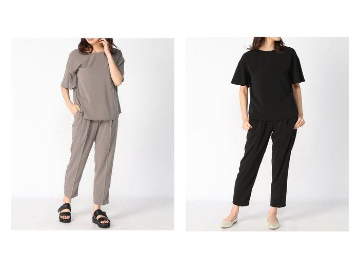 【GLOBAL WORK/グローバルワーク】のソデフリルBLPTセット+D 【トップス・カットソー】おすすめ!人気、トレンド・レディースファッションの通販 おすすめ人気トレンドファッション通販アイテム 人気、トレンドファッション・服の通販 founy(ファニー) ファッション Fashion レディースファッション WOMEN トップス・カットソー Tops/Tshirt シャツ/ブラウス Shirts/Blouses NEW・新作・新着・新入荷 New Arrivals ストレッチ スリーブ セットアップ ツイル フレア メタル |ID:crp329100000041030