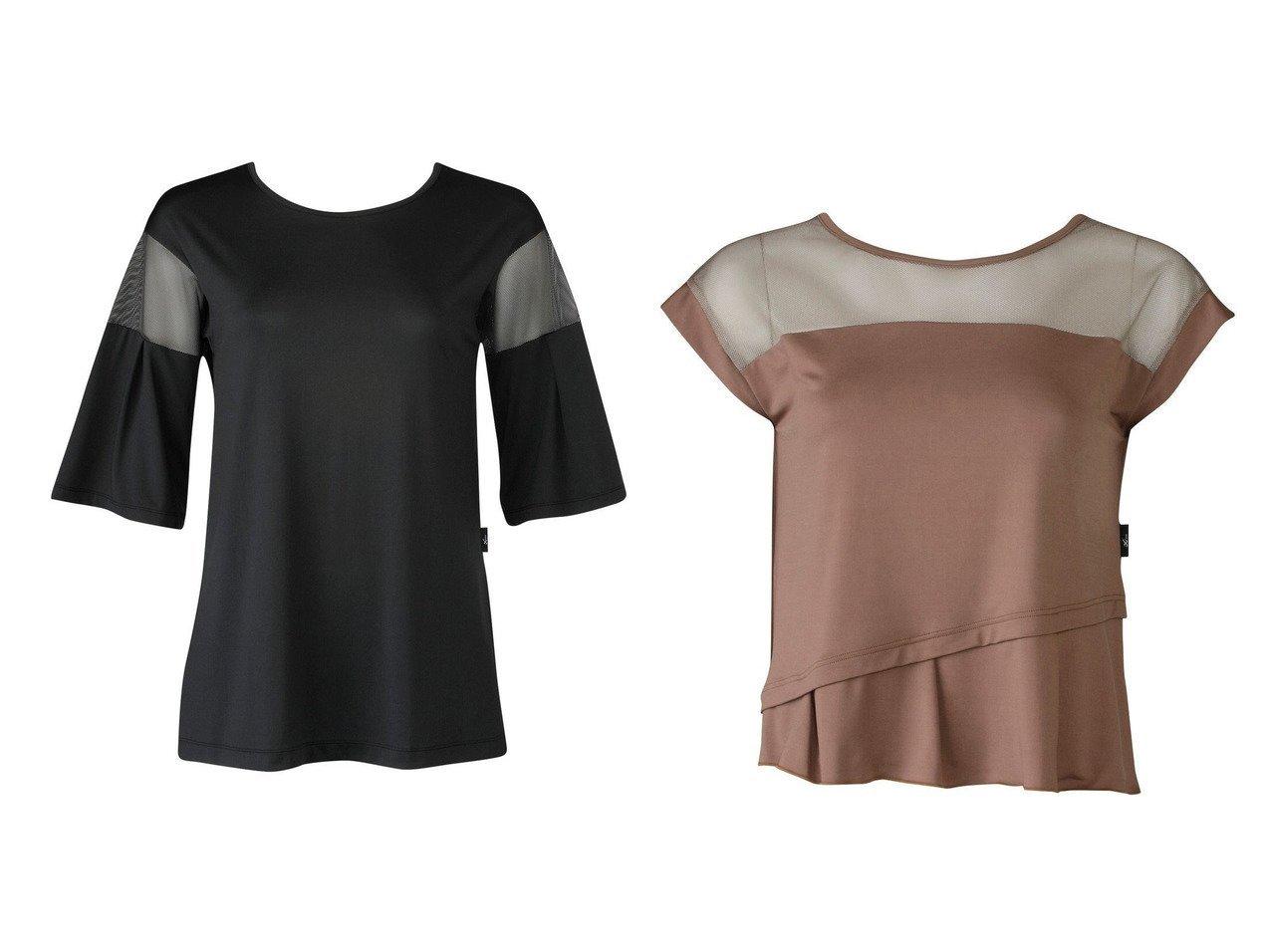 【CW-X/シーダブリューエックス】の【WOMEN】YOGAアウター Tシャツ 7分袖ワコール&【WOMEN】YOGAアウター Tシャツ 半袖ワコール スポーツウェア・ヨガ・運動・ダイエットグッズなどのおすすめ!人気トレンド・ファッション通販 おすすめで人気の流行・トレンド、ファッションの通販商品 インテリア・家具・メンズファッション・キッズファッション・レディースファッション・服の通販 founy(ファニー) https://founy.com/ ファッション Fashion レディースファッション WOMEN アウター Coat Outerwear トップス・カットソー Tops/Tshirt シャツ/ブラウス Shirts/Blouses ロング / Tシャツ T-Shirts 送料無料 Free Shipping なめらか ストレッチ スリット トレンド メッシュ リボン ロング 切替 抗菌  ID:crp329100000041118