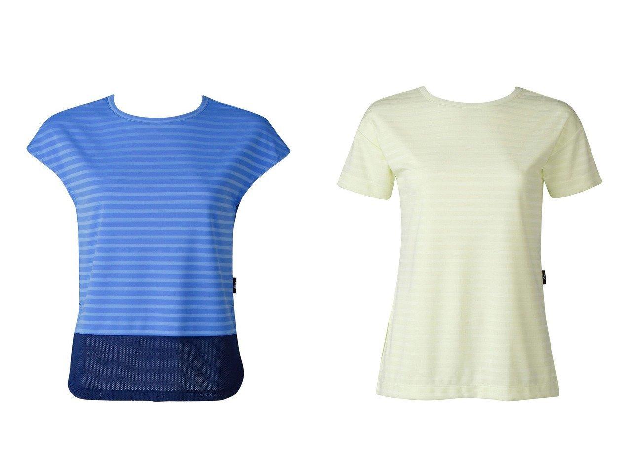 【CW-X/シーダブリューエックス】の【WOMEN】YOGAアウター Tシャツ 半袖ワコール&【WOMEN】YOGAアウター ロングTシャツ 半袖ワコール スポーツウェア・ヨガ・運動・ダイエットグッズなどのおすすめ!人気トレンド・ファッション通販 おすすめで人気の流行・トレンド、ファッションの通販商品 インテリア・家具・メンズファッション・キッズファッション・レディースファッション・服の通販 founy(ファニー) https://founy.com/ ファッション Fashion レディースファッション WOMEN アウター Coat Outerwear トップス・カットソー Tops/Tshirt シャツ/ブラウス Shirts/Blouses ロング / Tシャツ T-Shirts 送料無料 Free Shipping スリーブ トレンド フレンチ メッシュ 半袖 |ID:crp329100000041130