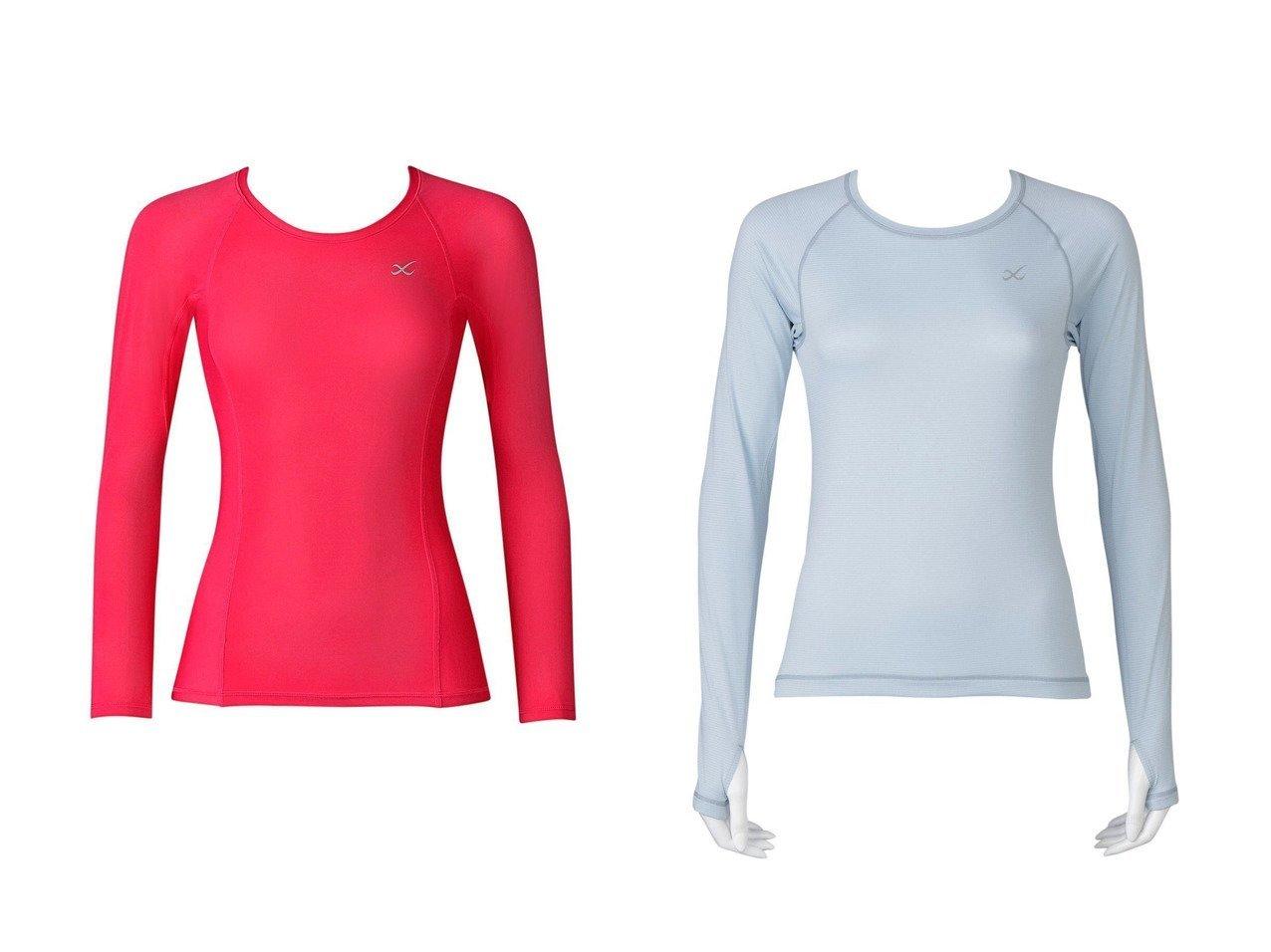 【CW-X/シーダブリューエックス】の【WOMEN】アウター Tシャツ 長袖ワコール&【WOMEN】SECOND BODY 丸首 長袖ワコール スポーツウェア・ヨガ・運動・ダイエットグッズなどのおすすめ!人気トレンド・ファッション通販 おすすめで人気の流行・トレンド、ファッションの通販商品 インテリア・家具・メンズファッション・キッズファッション・レディースファッション・服の通販 founy(ファニー) https://founy.com/ ファッション Fashion レディースファッション WOMEN トップス・カットソー Tops/Tshirt アウター Coat Outerwear シャツ/ブラウス Shirts/Blouses ロング / Tシャツ T-Shirts 送料無料 Free Shipping ストレッチ パターン 長袖  ID:crp329100000041131