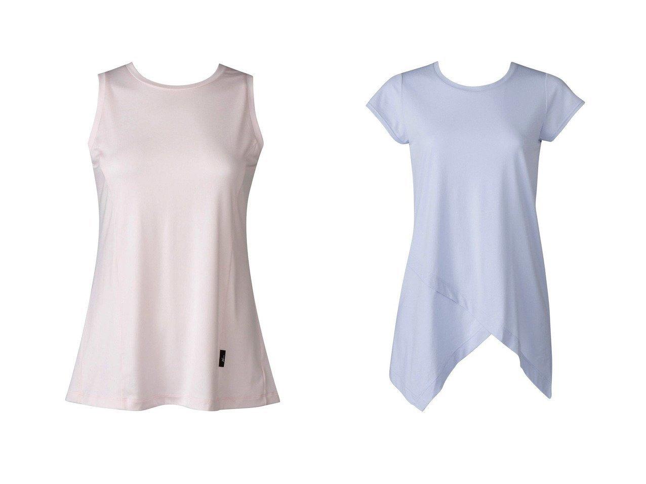 【CW-X/シーダブリューエックス】の【WOMEN】YOGAアウター Tシャツ ノースリーブワコール&【WOMEN】YOGAアウター ロングTシャツ 半袖ワコール スポーツウェア・ヨガ・運動・ダイエットグッズなどのおすすめ!人気トレンド・ファッション通販 おすすめで人気の流行・トレンド、ファッションの通販商品 インテリア・家具・メンズファッション・キッズファッション・レディースファッション・服の通販 founy(ファニー) https://founy.com/ ファッション Fashion レディースファッション WOMEN アウター Coat Outerwear トップス・カットソー Tops/Tshirt キャミソール / ノースリーブ No Sleeves シャツ/ブラウス Shirts/Blouses ロング / Tシャツ T-Shirts 送料無料 Free Shipping なめらか ギャザー ストレッチ ノースリーブ 切替 抗菌 アシンメトリー ロング 半袖  ID:crp329100000041133
