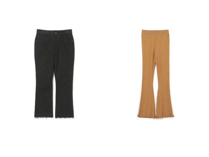 【MADISONBLUE/マディソンブルー】のHEM CUT SLIM FLARE DENIM&【HOLZWEILER/ホルスウィラー】のDahlia Knit Trouser 【パンツ】おすすめ!人気、トレンド・レディースファッションの通販 おすすめ人気トレンドファッション通販アイテム 人気、トレンドファッション・服の通販 founy(ファニー) ファッション Fashion レディースファッション WOMEN パンツ Pants ストレッチ デニム バランス フレア 2021年 2021 2021春夏・S/S SS/Spring/Summer/2021 S/S・春夏 SS・Spring/Summer フィット フリル モダン レギンス 今季 洗える |ID:crp329100000041188