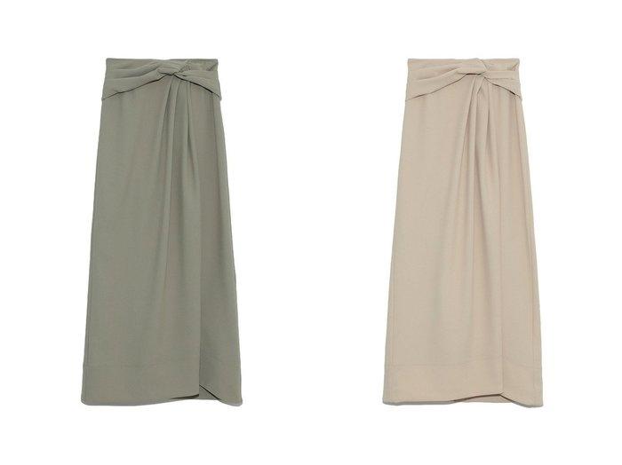 【FRAY I.D/フレイ アイディー】のツイストデザインスカート 【スカート】おすすめ!人気、トレンド・レディースファッションの通販 おすすめ人気トレンドファッション通販アイテム 人気、トレンドファッション・服の通販 founy(ファニー) ファッション Fashion レディースファッション WOMEN スカート Skirt ロングスカート Long Skirt ツイスト ロング |ID:crp329100000041252
