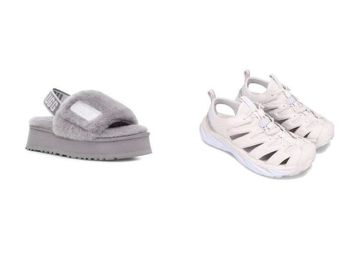 【HOKA ONE ONE/ホカ オネオネ】のHOKA ONEONE M HOPARA&【UGG Australia/アグ】のUGG DISCO SLIDE 【シューズ・靴】おすすめ!人気、トレンド・レディースファッションの通販 おすすめ人気トレンドファッション通販アイテム 人気、トレンドファッション・服の通販 founy(ファニー) ファッション Fashion レディースファッション WOMEN シューズ スニーカー スリッポン NEW・新作・新着・新入荷 New Arrivals インソール グラフィック サンダル プレート ミュール ライニング ラバー |ID:crp329100000041278