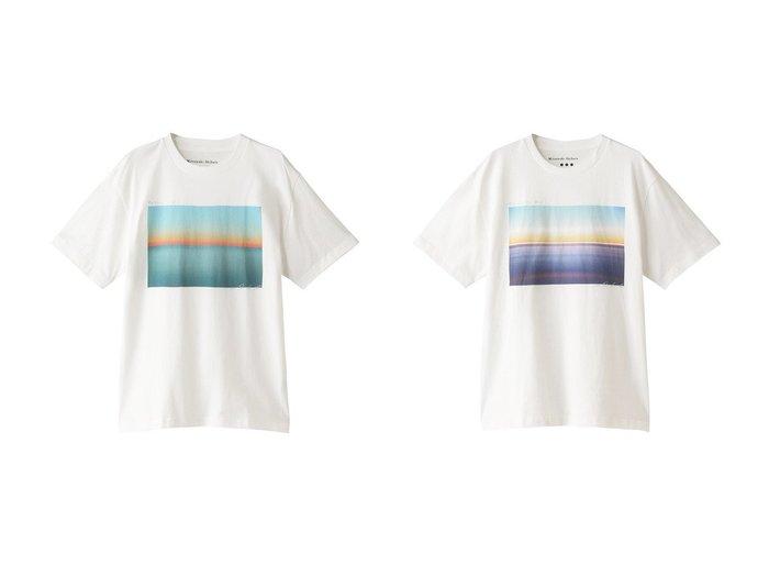 【heliopole/エリオポール】の【THREE DOTS】GRAPHIC TEE1 Tシャツ 【トップス・カットソー】おすすめ!人気、トレンド・レディースファッションの通販 おすすめ人気トレンドファッション通販アイテム インテリア・キッズ・メンズ・レディースファッション・服の通販 founy(ファニー) https://founy.com/ ファッション Fashion レディースファッション WOMEN トップス・カットソー Tops/Tshirt シャツ/ブラウス Shirts/Blouses ロング / Tシャツ T-Shirts カットソー Cut and Sewn アウトドア グラフィック ショート シンプル スリーブ フロント プリント  ID:crp329100000041357