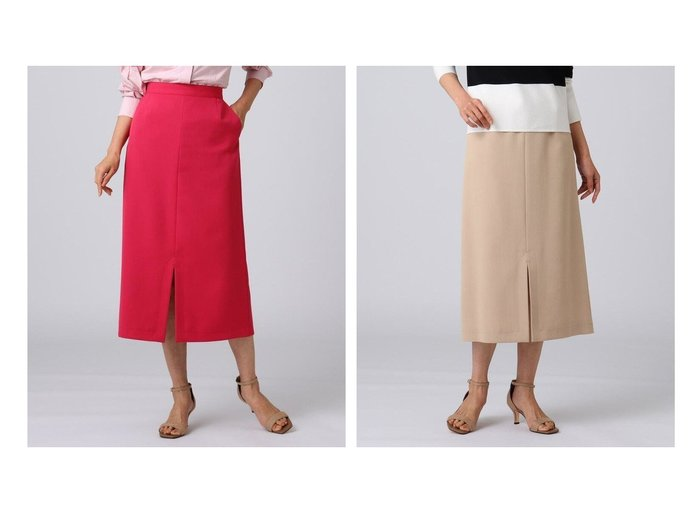 【UNTITLED/アンタイトル】のトゥッティーツイルペンシルスカート 【スカート】おすすめ!人気、トレンド・レディースファッションの通販 おすすめ人気トレンドファッション通販アイテム インテリア・キッズ・メンズ・レディースファッション・服の通販 founy(ファニー) https://founy.com/ ファッション Fashion レディースファッション WOMEN スカート Skirt Aライン/フレアスカート Flared A-Line Skirts スリット センター ツイル パウダー ペンシル ポケット 春 Spring |ID:crp329100000041652