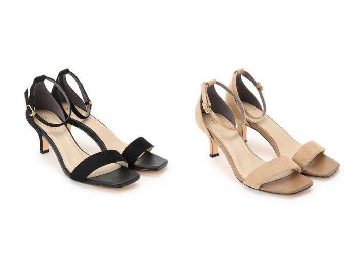 【UNTITLED/アンタイトル】のスクエアアンクルストラップサンダル 【シューズ・靴】おすすめ!人気、トレンド・レディースファッションの通販 おすすめ人気トレンドファッション通販アイテム 人気、トレンドファッション・服の通販 founy(ファニー) ファッション Fashion レディースファッション WOMEN クッション サンダル シューズ シンプル トレンド フェイクスエード ミュール |ID:crp329100000041693