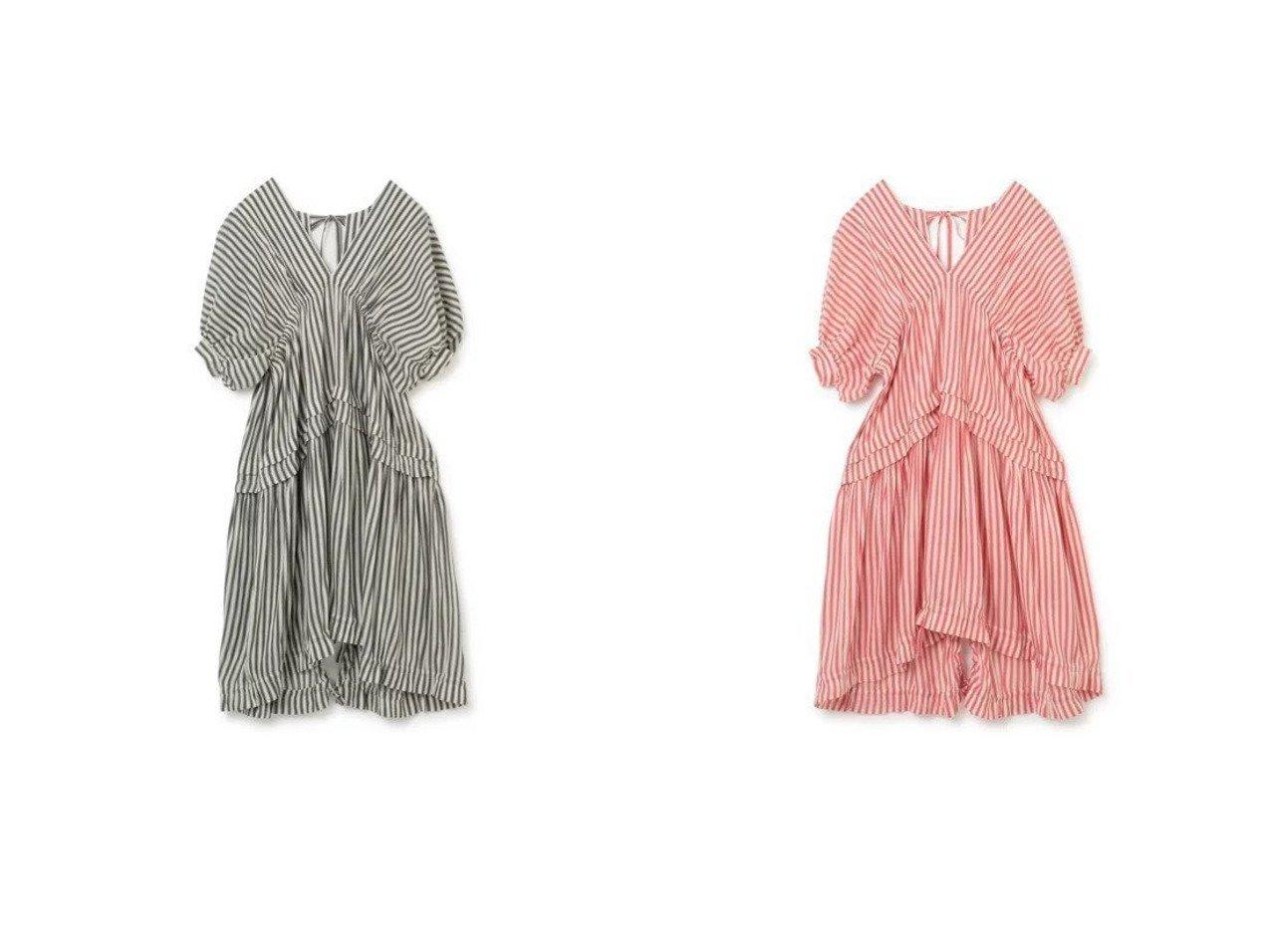 【beautiful people/ビューティフル ピープル】のpillow striped purse blouse dress 【ワンピース・ドレス】おすすめ!人気、トレンド・レディースファッションの通販 おすすめで人気の流行・トレンド、ファッションの通販商品 インテリア・家具・メンズファッション・キッズファッション・レディースファッション・服の通販 founy(ファニー) https://founy.com/ ファッション Fashion レディースファッション WOMEN ワンピース Dress ドレス Party Dresses 2021年 2021 2021春夏・S/S SS/Spring/Summer/2021 S/S・春夏 SS・Spring/Summer イレヘム ストライプ ダブル ドレス フリル リボン 半袖 |ID:crp329100000041739
