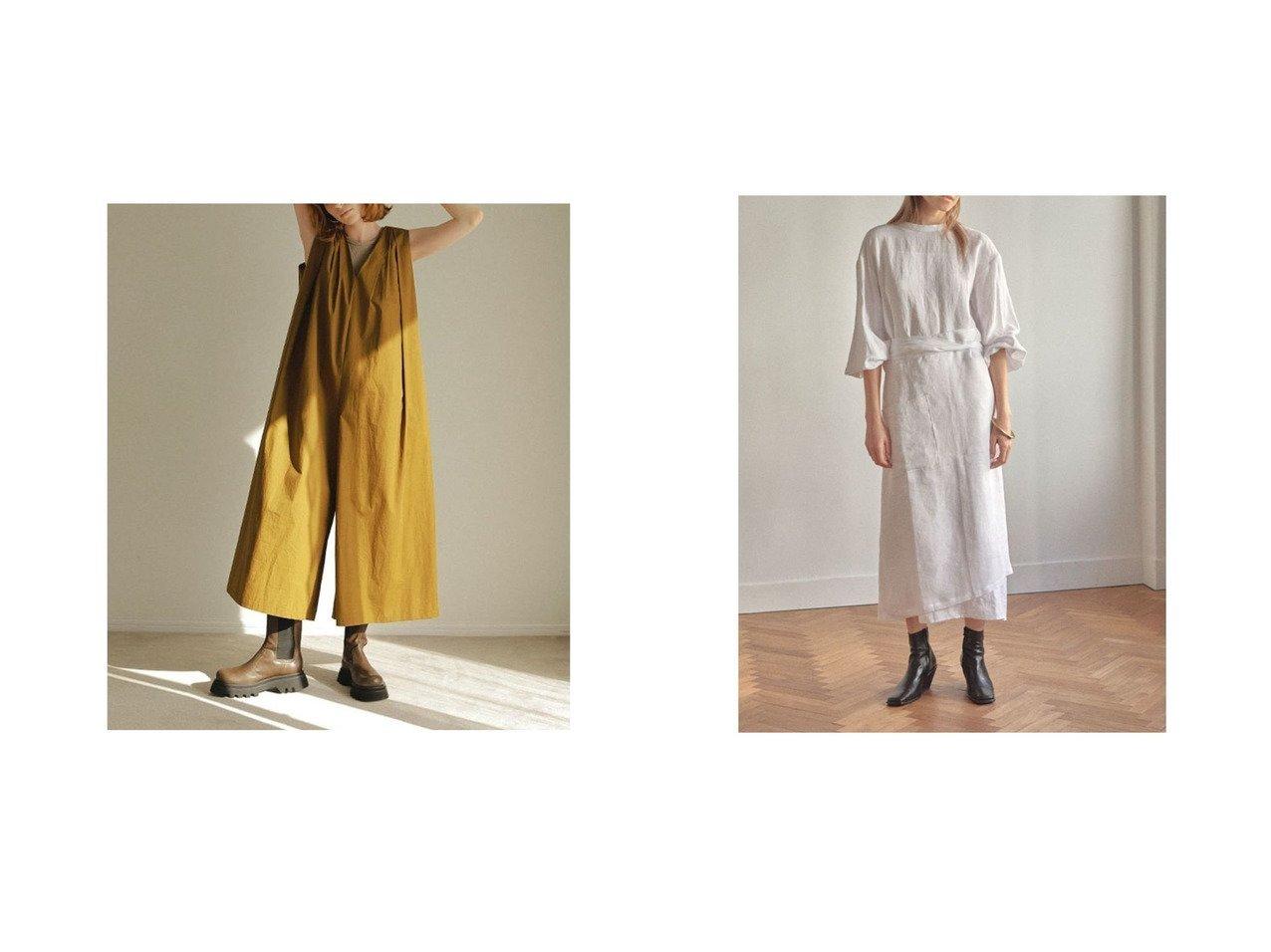 【ETRE TOKYO/エトレトウキョウ】のタックテントオールインワン&スタンドネックエプロンワンピース 【ワンピース・ドレス】おすすめ!人気、トレンド・レディースファッションの通販 おすすめで人気の流行・トレンド、ファッションの通販商品 インテリア・家具・メンズファッション・キッズファッション・レディースファッション・服の通販 founy(ファニー) https://founy.com/ ファッション Fashion レディースファッション WOMEN ワンピース Dress オールインワン ワンピース All In One Dress NEW・新作・新着・新入荷 New Arrivals A/W・秋冬 AW・Autumn/Winter・FW・Fall-Winter S/S・春夏 SS・Spring/Summer スニーカー タンク タートルネック バランス フォルム フォーマル フレア ヘムライン 春 Spring シンプル スリット フェミニン ロング  ID:crp329100000041751