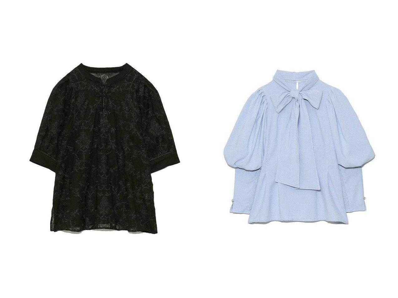 【Lily Brown/リリーブラウン】のオリエンタル刺繍チャイナトップス&2wayパワショルブラウス 【トップス・カットソー】おすすめ!人気、トレンド・レディースファッションの通販 おすすめで人気の流行・トレンド、ファッションの通販商品 インテリア・家具・メンズファッション・キッズファッション・レディースファッション・服の通販 founy(ファニー) https://founy.com/ ファッション Fashion レディースファッション WOMEN トップス・カットソー Tops/Tshirt シャツ/ブラウス Shirts/Blouses イエロー オリエンタル ヴィンテージ ガウン スリット 定番 Standard ボトム ワイド 再入荷 Restock/Back in Stock/Re Arrival NEW・新作・新着・新入荷 New Arrivals カフス スリーブ タイプライター トレンド ロング 半袖 春 Spring |ID:crp329100000041757