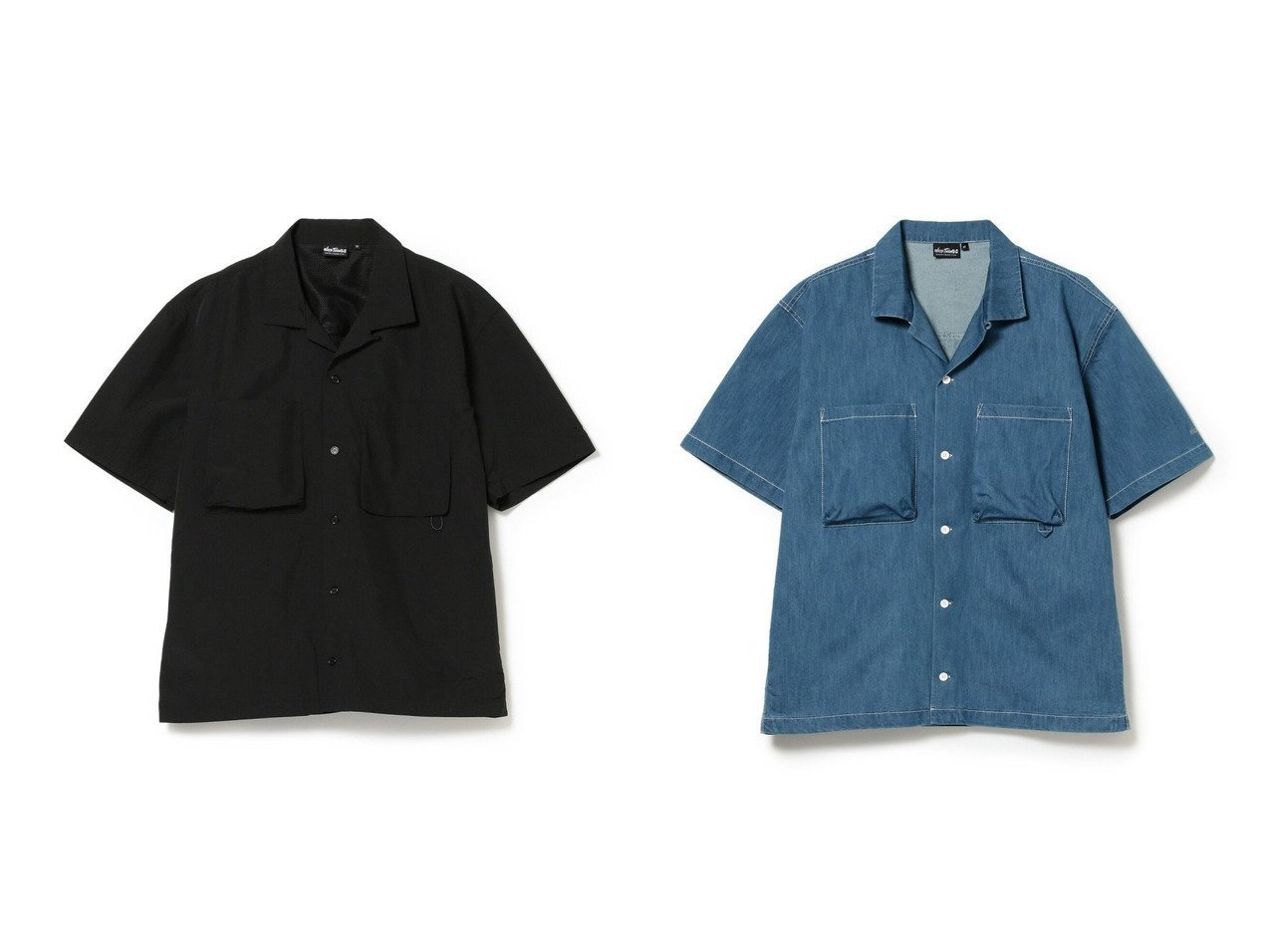 【BEAMS / MEN/ビームス】の別注 Supplex Nylon Camp Shirt&別注 Sheltech Denim Shirt 【MEN】別注・限定・コラボなど、おすすめ!人気トレンド・メンズファッション通販 おすすめで人気の流行・トレンド、ファッションの通販商品 インテリア・家具・メンズファッション・キッズファッション・レディースファッション・服の通販 founy(ファニー) https://founy.com/ ファッション Fashion メンズファッション MEN NEW・新作・新着・新入荷 New Arrivals アウトドア 別注 軽量 長袖 |ID:crp329100000042171