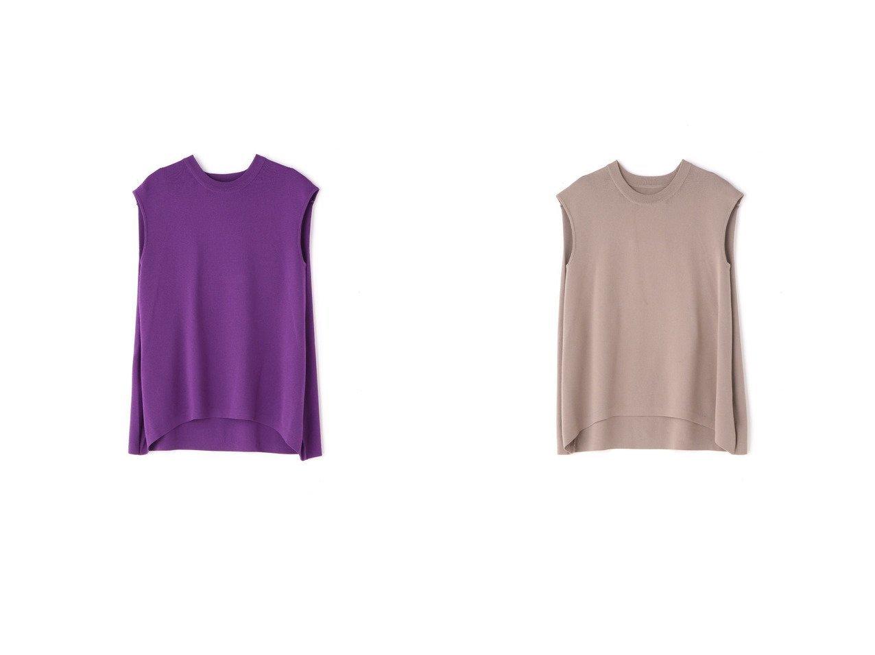 【FREE'S MART/フリーズマート】のノースリタック総針チュニックニット 【プチプライス】おすすめ!人気トレンド・ファッション通販  おすすめで人気の流行・トレンド、ファッションの通販商品 インテリア・家具・メンズファッション・キッズファッション・レディースファッション・服の通販 founy(ファニー) https://founy.com/ ファッション Fashion レディースファッション WOMEN トップス・カットソー Tops/Tshirt ニット Knit Tops 2021年 2021 2021春夏・S/S SS/Spring/Summer/2021 S/S・春夏 SS・Spring/Summer スタンダード スリム チュニック ハーフ フォルム フラット リラックス 人気 定番 Standard 春 Spring  ID:crp329100000042283