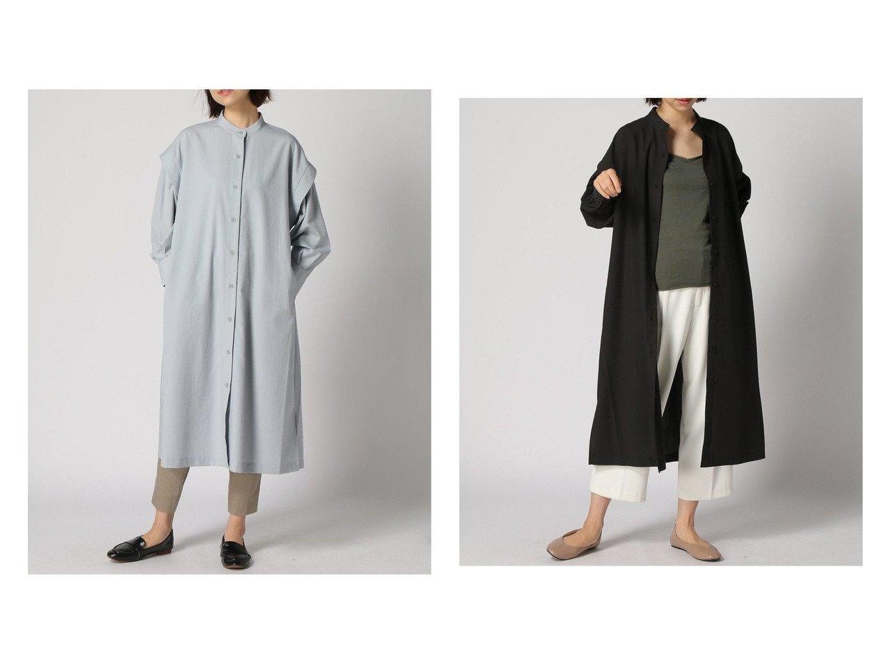 【GLOBAL WORK/グローバルワーク】のスタンドカラーワンピコート 【プチプライス】おすすめ!人気トレンド・ファッション通販  おすすめで人気の流行・トレンド、ファッションの通販商品 インテリア・家具・メンズファッション・キッズファッション・レディースファッション・服の通販 founy(ファニー) https://founy.com/ ファッション Fashion レディースファッション WOMEN アウター Coat Outerwear コート Coats ワンピース Dress シャツワンピース Shirt Dresses おすすめ Recommend ギャザー ショルダー デニム トレンド ヨーク  ID:crp329100000042287