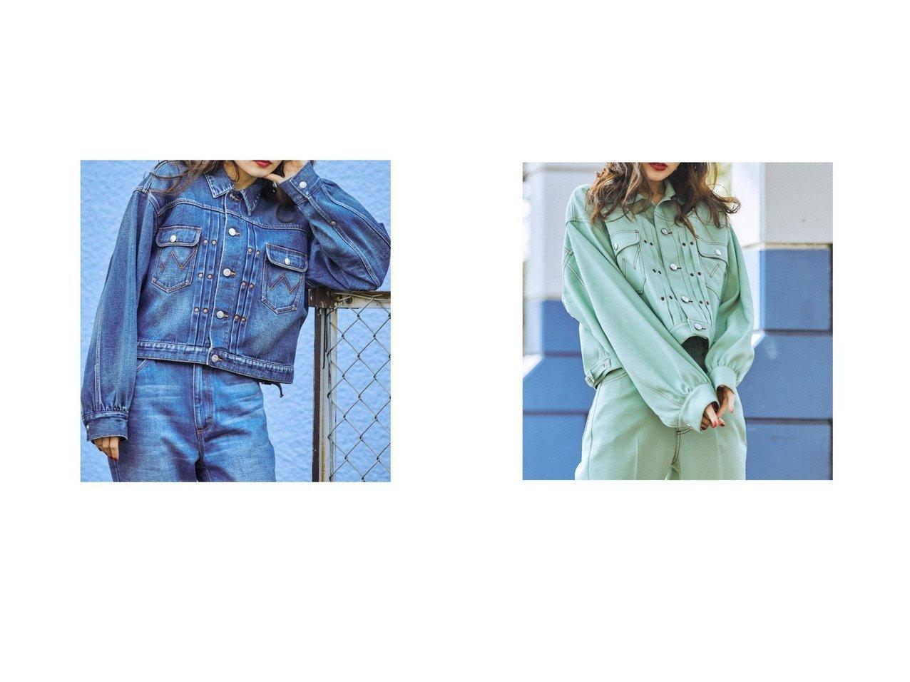 【jouetie/ジュエティ】のjouetie 【セットアップ対応】Wrangler ジャケット おすすめ!人気、トレンド・レディースファッションの通販 おすすめで人気の流行・トレンド、ファッションの通販商品 インテリア・家具・メンズファッション・キッズファッション・レディースファッション・服の通販 founy(ファニー) https://founy.com/ ファッション Fashion レディースファッション WOMEN アウター Coat Outerwear ジャケット Jackets 春 Spring コンパクト ジャケット ジーンズ ストレッチ セットアップ ツイル デニム ボトム 2021年 2021 S/S・春夏 SS・Spring/Summer 2021春夏・S/S SS/Spring/Summer/2021 おすすめ Recommend |ID:crp329100000042313