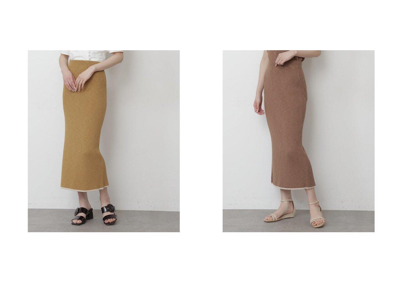 【FREE'S MART/フリーズマート】の配色バインダーリブニットスカート マスタード おすすめ!人気、トレンド・レディースファッションの通販 おすすめで人気の流行・トレンド、ファッションの通販商品 インテリア・家具・メンズファッション・キッズファッション・レディースファッション・服の通販 founy(ファニー) https://founy.com/ ファッション Fashion レディースファッション WOMEN スカート Skirt 2021年 2021 2021春夏・S/S SS/Spring/Summer/2021 S/S・春夏 SS・Spring/Summer スリット センター 春 Spring  ID:crp329100000042343