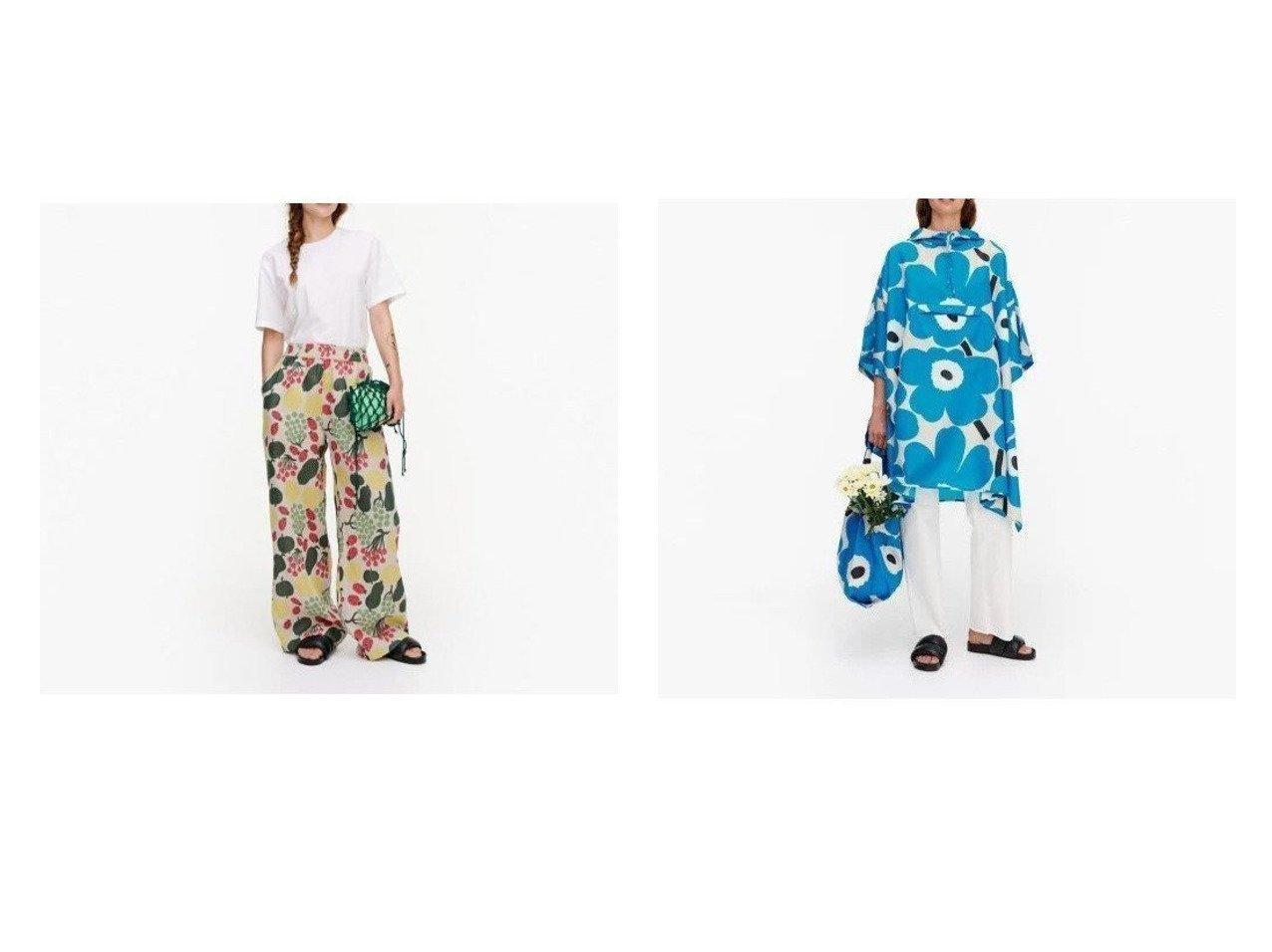 【marimekko/マリメッコ】のUnikko レインポンチョ&Kukkinut Pieni Tori パンツ おすすめ!人気、トレンド・レディースファッションの通販 おすすめで人気の流行・トレンド、ファッションの通販商品 インテリア・家具・メンズファッション・キッズファッション・レディースファッション・服の通販 founy(ファニー) https://founy.com/ ファッション Fashion レディースファッション WOMEN パンツ Pants アウター Coat Outerwear コート Coats ポンチョ Ponchos カラフル セットアップ プリント リラックス ワイド コンパクト フロント ポケット ポーチ モチーフ |ID:crp329100000042375