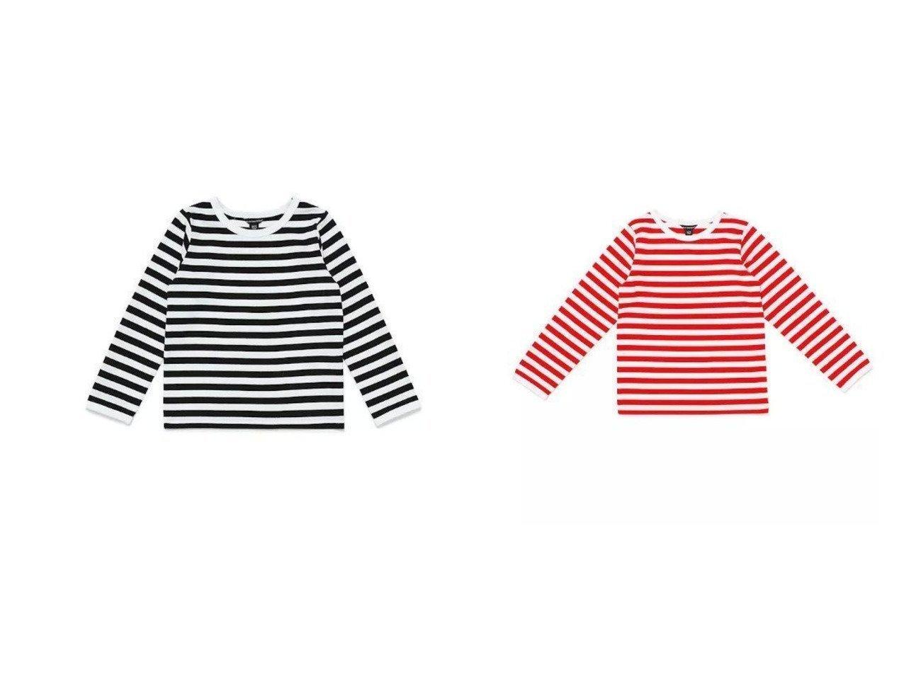 【marimekko / KIDS/マリメッコ】のKids Tasaraita カットソー L.PITKAHIHA&Kids Tasaraita カットソー おすすめ!人気、トレンド・レディースファッションの通販 おすすめで人気の流行・トレンド、ファッションの通販商品 インテリア・家具・メンズファッション・キッズファッション・レディースファッション・服の通販 founy(ファニー) https://founy.com/ ファッション Fashion キッズファッション KIDS トップス・カットソー Tops/Tees/Kids カットソー ベーシック ボーダー ワンポイント インナー シンプル パターン 人気 定番 Standard 長袖 |ID:crp329100000042377