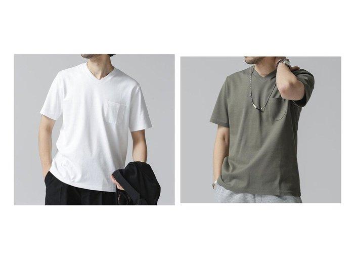 【nano universe / MEN/ナノ ユニバース】のAnti Soaked ヘビーVネックTシャツ 【MEN】おすすめ!人気トレンド・男性、メンズファッションの通販 おすすめ人気トレンドファッション通販アイテム 人気、トレンドファッション・服の通販 founy(ファニー)  ファッション Fashion メンズファッション MEN トップス・カットソー Tops/Tshirt/Men シャツ Shirts インナー カットソー ジャケット 定番 Standard 人気 バランス ブルゾン 2021年 2021 再入荷 Restock/Back in Stock/Re Arrival S/S・春夏 SS・Spring/Summer 2021春夏・S/S SS/Spring/Summer/2021 おすすめ Recommend |ID:crp329100000042521