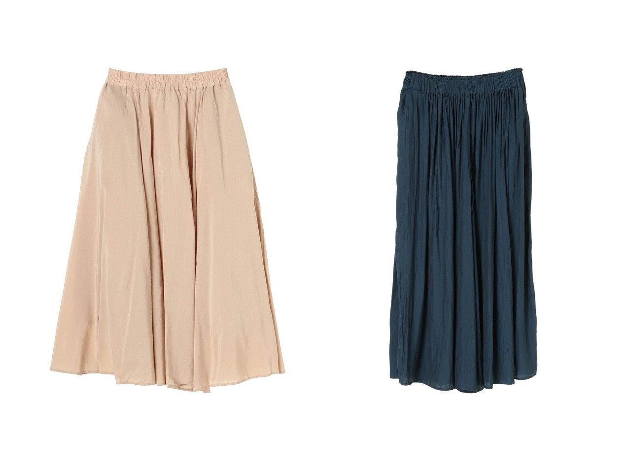 【Green Parks/グリーンパークス】のスカート見えギャザーワイドパンツ&ボリュームロングスカート 【プチプライス・格安】おすすめ!人気トレンド・レディースファッション通販   おすすめで人気の流行・トレンド、ファッションの通販商品 インテリア・家具・メンズファッション・キッズファッション・レディースファッション・服の通販 founy(ファニー) https://founy.com/ ファッション Fashion レディースファッション WOMEN スカート Skirt ロングスカート Long Skirt ガウチョ ギャザー ワイド 再入荷 Restock/Back in Stock/Re Arrival 送料無料 Free Shipping シンプル ロング 無地 |ID:crp329100000042564