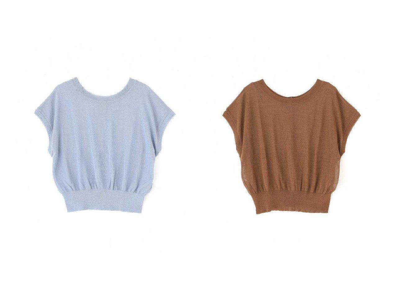 【FREE'S MART/フリーズマート】の前後2Wayシアーフレンチスリーブニット 【プチプライス・低価格】おすすめ!人気、トレンド・レディースファッションの通販 おすすめで人気の流行・トレンド、ファッションの通販商品 インテリア・家具・メンズファッション・キッズファッション・レディースファッション・服の通販 founy(ファニー) https://founy.com/ ファッション Fashion レディースファッション WOMEN トップス・カットソー Tops/Tshirt ニット Knit Tops スリーブ フレンチ |ID:crp329100000042669