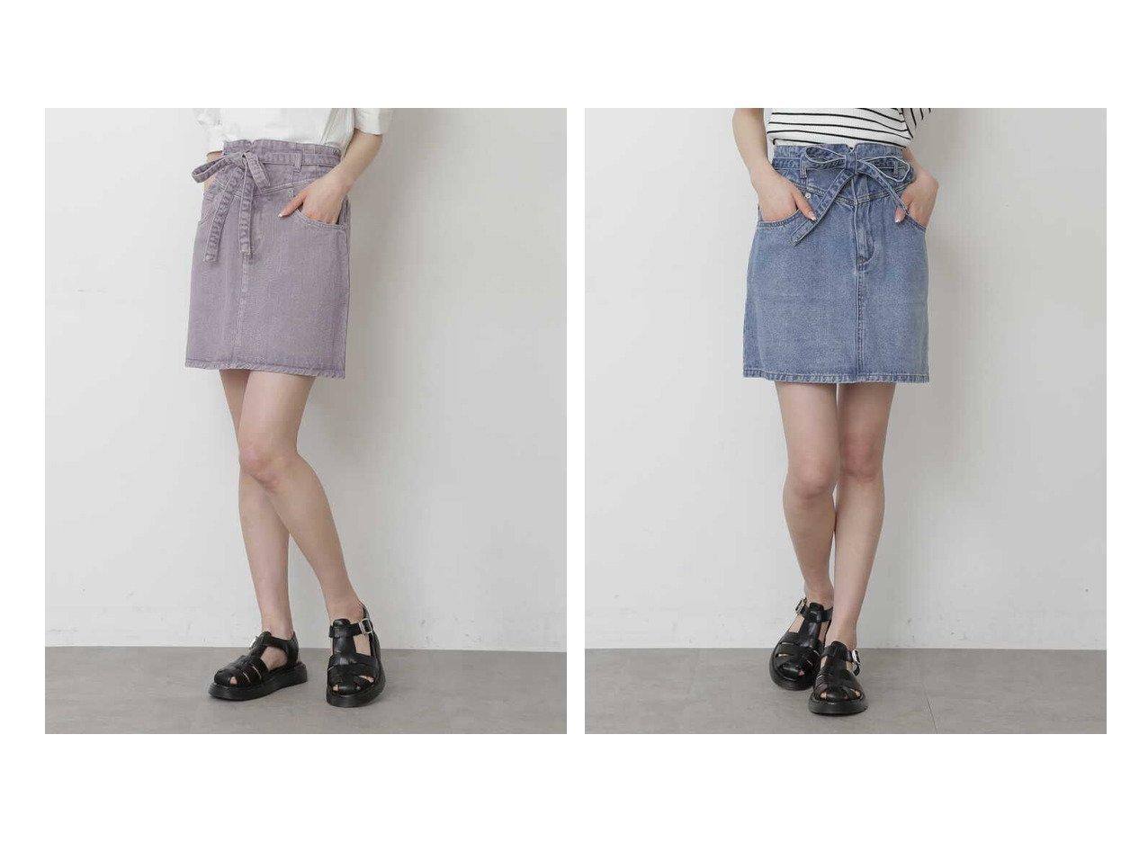 【FREE'S MART/フリーズマート】の《Sシリーズ対応商品》ハイウエストリボン付きデニムスカート 【プチプライス・低価格】おすすめ!人気、トレンド・レディースファッションの通販 おすすめで人気の流行・トレンド、ファッションの通販商品 インテリア・家具・メンズファッション・キッズファッション・レディースファッション・服の通販 founy(ファニー) https://founy.com/ ファッション Fashion レディースファッション WOMEN スカート Skirt デニムスカート Denim Skirts サマー デニム トレンド リボン |ID:crp329100000042670