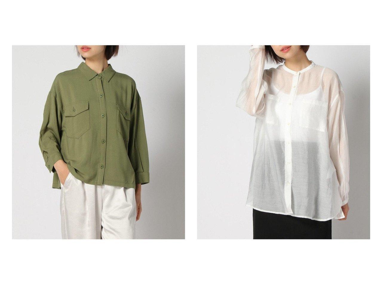 【niko and…/ニコアンド】のリップストップシャツJK&シアーバンドカラーSH 【プチプライス・低価格】おすすめ!人気、トレンド・レディースファッションの通販 おすすめで人気の流行・トレンド、ファッションの通販商品 インテリア・家具・メンズファッション・キッズファッション・レディースファッション・服の通販 founy(ファニー) https://founy.com/ ファッション Fashion レディースファッション WOMEN トップス・カットソー Tops/Tshirt シャツ/ブラウス Shirts/Blouses NEW・新作・新着・新入荷 New Arrivals S/S・春夏 SS・Spring/Summer おすすめ Recommend アウトドア ショート ジャケット ポケット ミリタリー リップ ワーク 人気 春 Spring 軽量 インナー トレンド 長袖 |ID:crp329100000042709