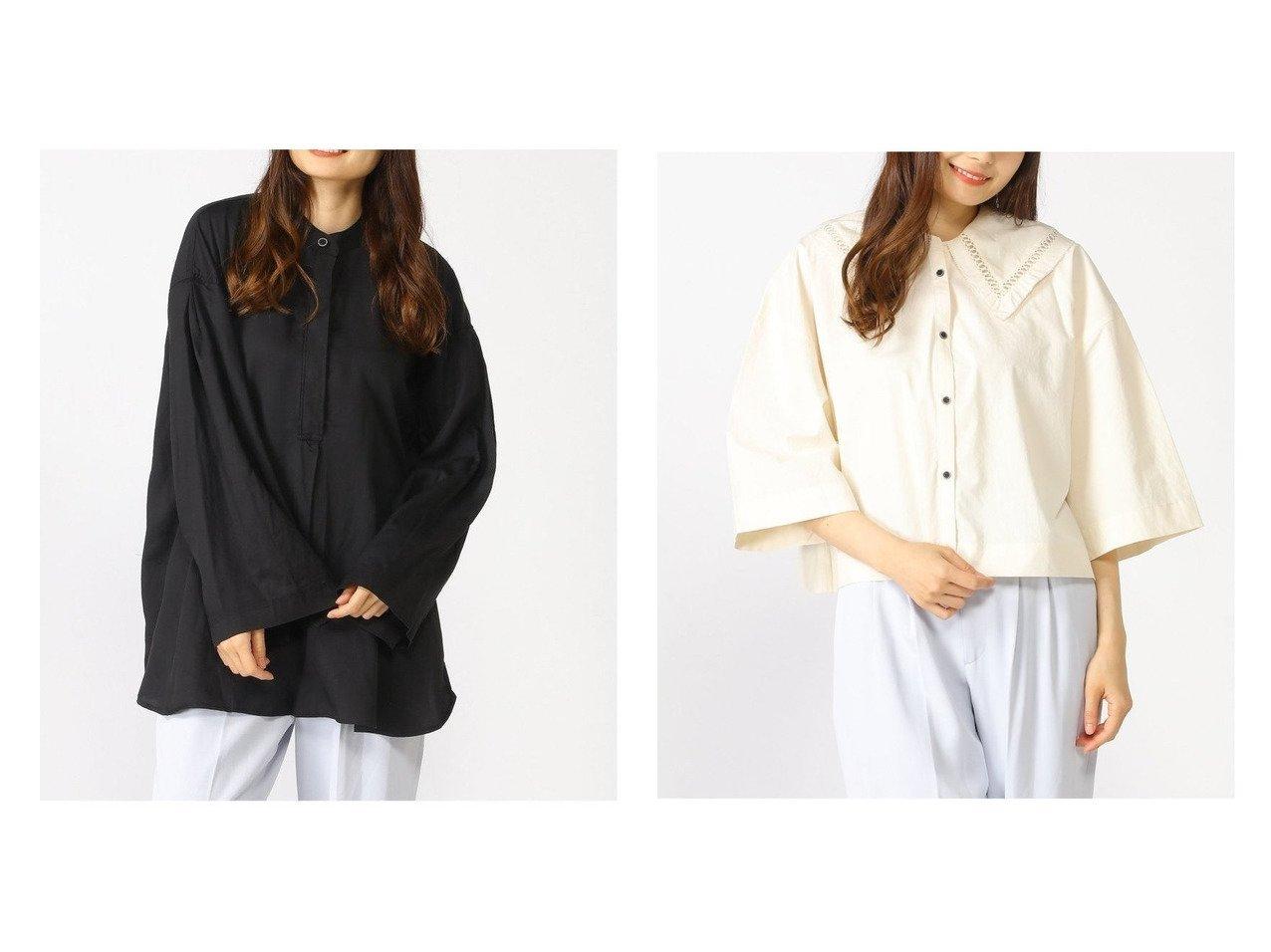 【JEANASiS/ジーナシス】のカットワークカラーショートSH&スプリットスリーブBCSH 【プチプライス・低価格】おすすめ!人気、トレンド・レディースファッションの通販 おすすめで人気の流行・トレンド、ファッションの通販商品 インテリア・家具・メンズファッション・キッズファッション・レディースファッション・服の通販 founy(ファニー) https://founy.com/ ファッション Fashion レディースファッション WOMEN トップス・カットソー Tops/Tshirt シャツ/ブラウス Shirts/Blouses NEW・新作・新着・新入荷 New Arrivals おすすめ Recommend シンプル スリット スリーブ トレンド フレア フロント 定番 Standard 長袖 ウォッシャブル ショート バランス ビッグ ヴィンテージ  ID:crp329100000042716