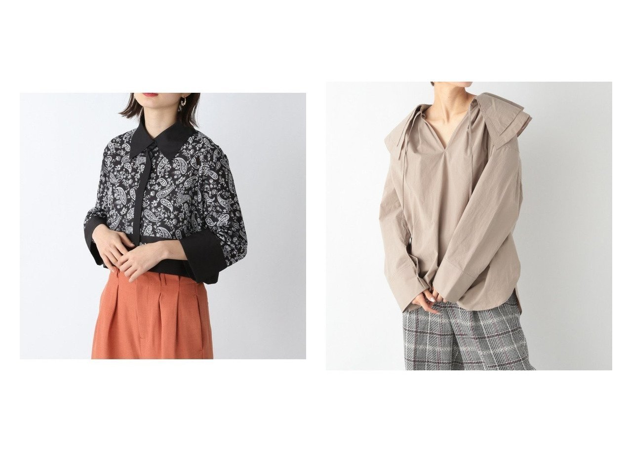 【JEANASiS/ジーナシス】のペイズリーショートSH&BIGカラースキッパーBL 【プチプライス・低価格】おすすめ!人気、トレンド・レディースファッションの通販 おすすめで人気の流行・トレンド、ファッションの通販商品 インテリア・家具・メンズファッション・キッズファッション・レディースファッション・服の通販 founy(ファニー) https://founy.com/ ファッション Fashion レディースファッション WOMEN トップス・カットソー Tops/Tshirt シャツ/ブラウス Shirts/Blouses NEW・新作・新着・新入荷 New Arrivals おすすめ Recommend ショート スカーフ トレンド プリント 無地 羽織 インナー ウォッシャブル カフス カーディガン サロペット スキッパー フロント リボン ワイド 長袖  ID:crp329100000042717