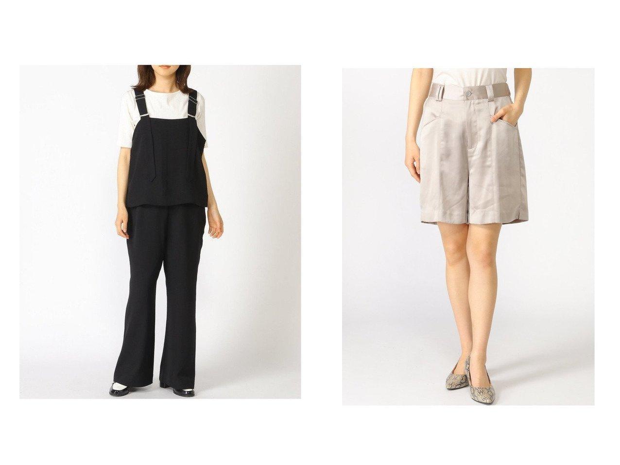 【JEANASiS/ジーナシス】のレイヤーサロペ&ワッシャーサテンキリカエSP 【プチプライス・低価格】おすすめ!人気、トレンド・レディースファッションの通販 おすすめで人気の流行・トレンド、ファッションの通販商品 インテリア・家具・メンズファッション・キッズファッション・レディースファッション・服の通販 founy(ファニー) https://founy.com/ ファッション Fashion レディースファッション WOMEN パンツ Pants ハーフ / ショートパンツ Short Pants NEW・新作・新着・新入荷 New Arrivals インナー カットソー サロペット ジーンズ サテン サンダル ショート シンプル ワッシャー 切替  ID:crp329100000042719