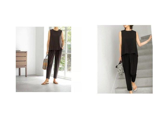 【STYLE DELI/スタイルデリ】の涼感リラックスライトジャージーセットアップ 【ワンピース・ドレス】おすすめ!人気、トレンド・レディースファッションの通販 おすすめ人気トレンドファッション通販アイテム 人気、トレンドファッション・服の通販 founy(ファニー) ファッション Fashion レディースファッション WOMEN ワンピース Dress オールインワン ワンピース All In One Dress サロペット Salopette カットソー カーディガン サンダル ジャケット ジャージー スタイリッシュ スリム セットアップ テーパード ドレープ 定番 Standard ノースリーブ フラット フリル メタリック リゾート |ID:crp329100000042778