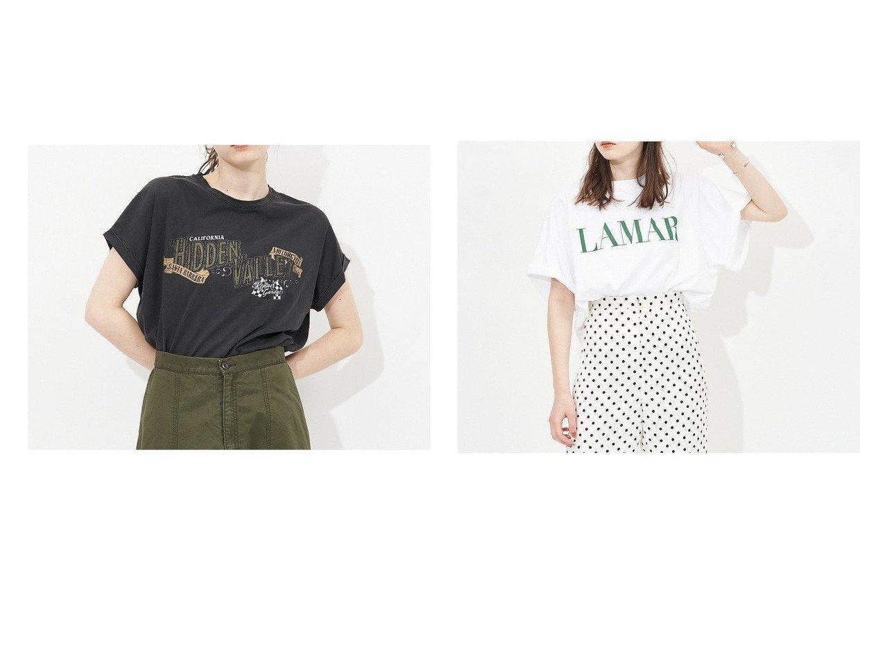 【Rouge vif la cle/ルージュヴィフラクレ】の【MICA DEAL】【WEB限定】ロックTシャツ&【MICA DEAL】【WEB限定】LAMAR ロゴヘムラウンドラグランTシャツ 別注・限定・コラボなど、おすすめ!人気トレンド・レディースファッション通販 おすすめで人気の流行・トレンド、ファッションの通販商品 インテリア・家具・メンズファッション・キッズファッション・レディースファッション・服の通販 founy(ファニー) https://founy.com/ ファッション Fashion レディースファッション WOMEN トップス・カットソー Tops/Tshirt シャツ/ブラウス Shirts/Blouses ロング / Tシャツ T-Shirts カットソー Cut and Sewn NEW・新作・新着・新入荷 New Arrivals おすすめ Recommend デニム フェミニン プリント ボトム 再入荷 Restock/Back in Stock/Re Arrival 長袖 カットソー クラシカル スリーブ トレンド ドット 定番 Standard フレア ミリタリー ワイド |ID:crp329100000043031
