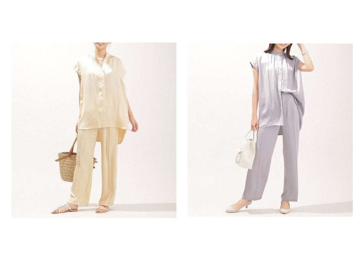 【nano universe/ナノ ユニバース】のWEB限定/ノースリーブブラウスリラックスパンツ セットアップ 別注・限定・コラボなど、おすすめ!人気トレンド・レディースファッション通販 おすすめで人気の流行・トレンド、ファッションの通販商品 インテリア・家具・メンズファッション・キッズファッション・レディースファッション・服の通販 founy(ファニー) https://founy.com/ ファッション Fashion レディースファッション WOMEN セットアップ Setup パンツ Pants ウォッシャブル ギャザー 今季 ストレート セットアップ トレンド ノースリーブ リラックス 再入荷 Restock/Back in Stock/Re Arrival NEW・新作・新着・新入荷 New Arrivals |ID:crp329100000043034
