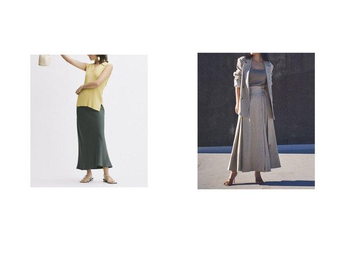 【anuans/アニュアンス】のリネンラップスカート&【Mila Owen/ミラオーウェン】のサテンバイアスロングスカート 【スカート】おすすめ!人気、トレンド・レディースファッションの通販 おすすめ人気トレンドファッション通販アイテム 人気、トレンドファッション・服の通販 founy(ファニー) ファッション Fashion レディースファッション WOMEN スカート Skirt ロングスカート Long Skirt インナー ウォッシャブル 春 Spring スマート バイアス フレア ベーシック リラックス 2021年 2021 S/S・春夏 SS・Spring/Summer 2021春夏・S/S SS/Spring/Summer/2021 ジャケット セットアップ ラップ リネン  ID:crp329100000043137