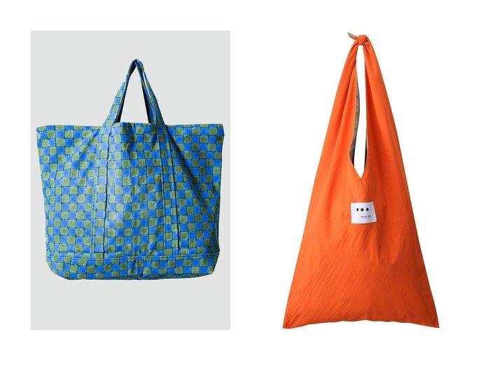 【three dots/スリー ドッツ】のBag nylon reversible バッグ&【SZ Blockprints/エスゼット ブロックプリント】の2 COLOR CHECK オーバーサイズコットントートバッグ 【バッグ・鞄】おすすめ!人気、トレンド・レディースファッションの通販 おすすめ人気トレンドファッション通販アイテム 人気、トレンドファッション・服の通販 founy(ファニー) ファッション Fashion レディースファッション WOMEN バッグ Bag アウトドア インド キャンバス チェック ハンド ビビッド ブロック プリント シンプル トライアングル リバーシブル |ID:crp329100000043325