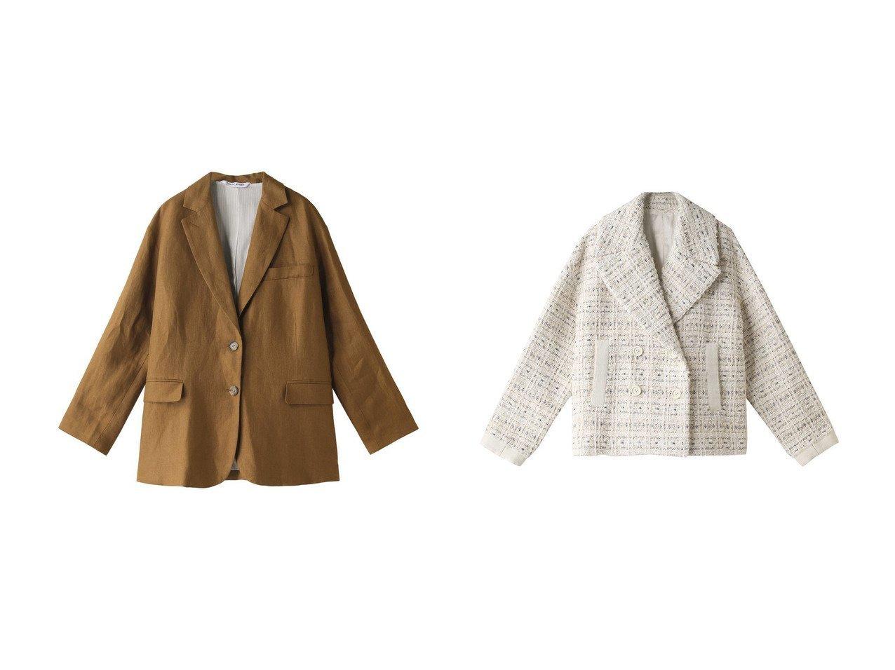 【heliopole/エリオポール】の【CHLOE STORA】テーラードジャケット&【ANAYI/アナイ】のホワイトラメツイードPコート 【アウター】おすすめ!人気、トレンド・レディースファッションの通販 おすすめで人気の流行・トレンド、ファッションの通販商品 インテリア・家具・メンズファッション・キッズファッション・レディースファッション・服の通販 founy(ファニー) https://founy.com/ ファッション Fashion レディースファッション WOMEN アウター Coat Outerwear ジャケット Jackets テーラードジャケット Tailored Jackets コート Coats Pコート Pea Coats シンプル ジャケット 今季 おすすめ Recommend ショート セットアップ ポケット 春 Spring  ID:crp329100000043345