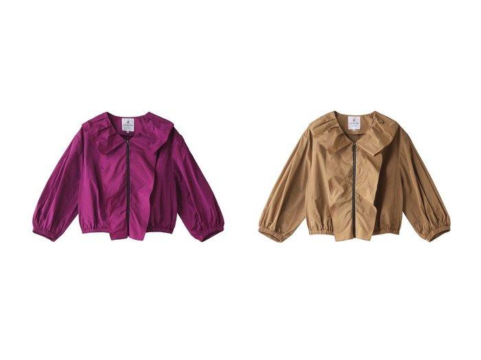 【LANVIN en Bleu/ランバン オン ブルー】のフロントフリルZIPジャケット 【アウター】おすすめ!人気、トレンド・レディースファッションの通販 おすすめ人気トレンドファッション通販アイテム インテリア・キッズ・メンズ・レディースファッション・服の通販 founy(ファニー) https://founy.com/ ファッション Fashion レディースファッション WOMEN アウター Coat Outerwear ジャケット Jackets ショート ジャケット スリーブ バランス フリル フロント |ID:crp329100000043348