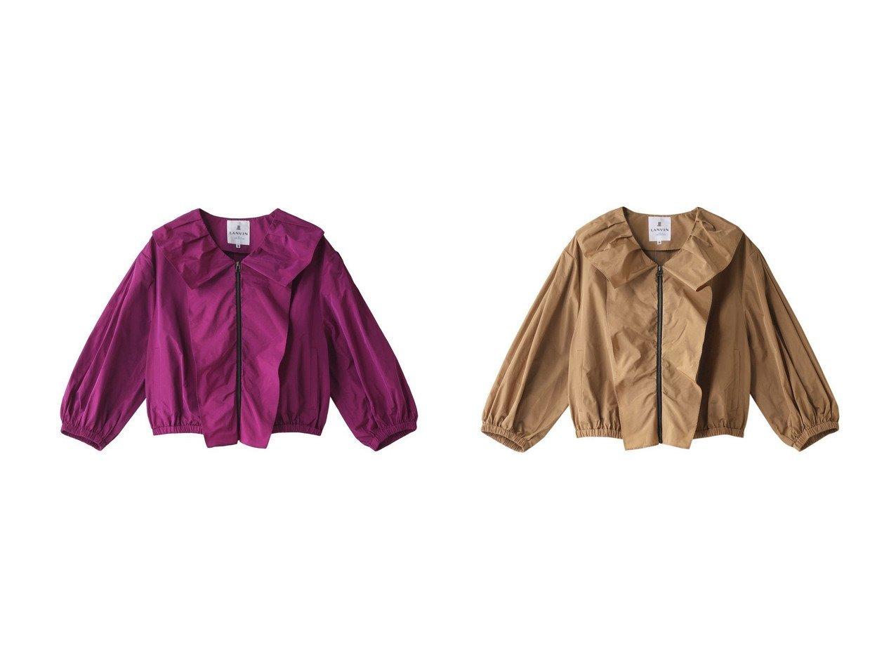 【LANVIN en Bleu/ランバン オン ブルー】のフロントフリルZIPジャケット 【アウター】おすすめ!人気、トレンド・レディースファッションの通販 おすすめで人気の流行・トレンド、ファッションの通販商品 インテリア・家具・メンズファッション・キッズファッション・レディースファッション・服の通販 founy(ファニー) https://founy.com/ ファッション Fashion レディースファッション WOMEN アウター Coat Outerwear ジャケット Jackets ショート ジャケット スリーブ バランス フリル フロント  ID:crp329100000043348