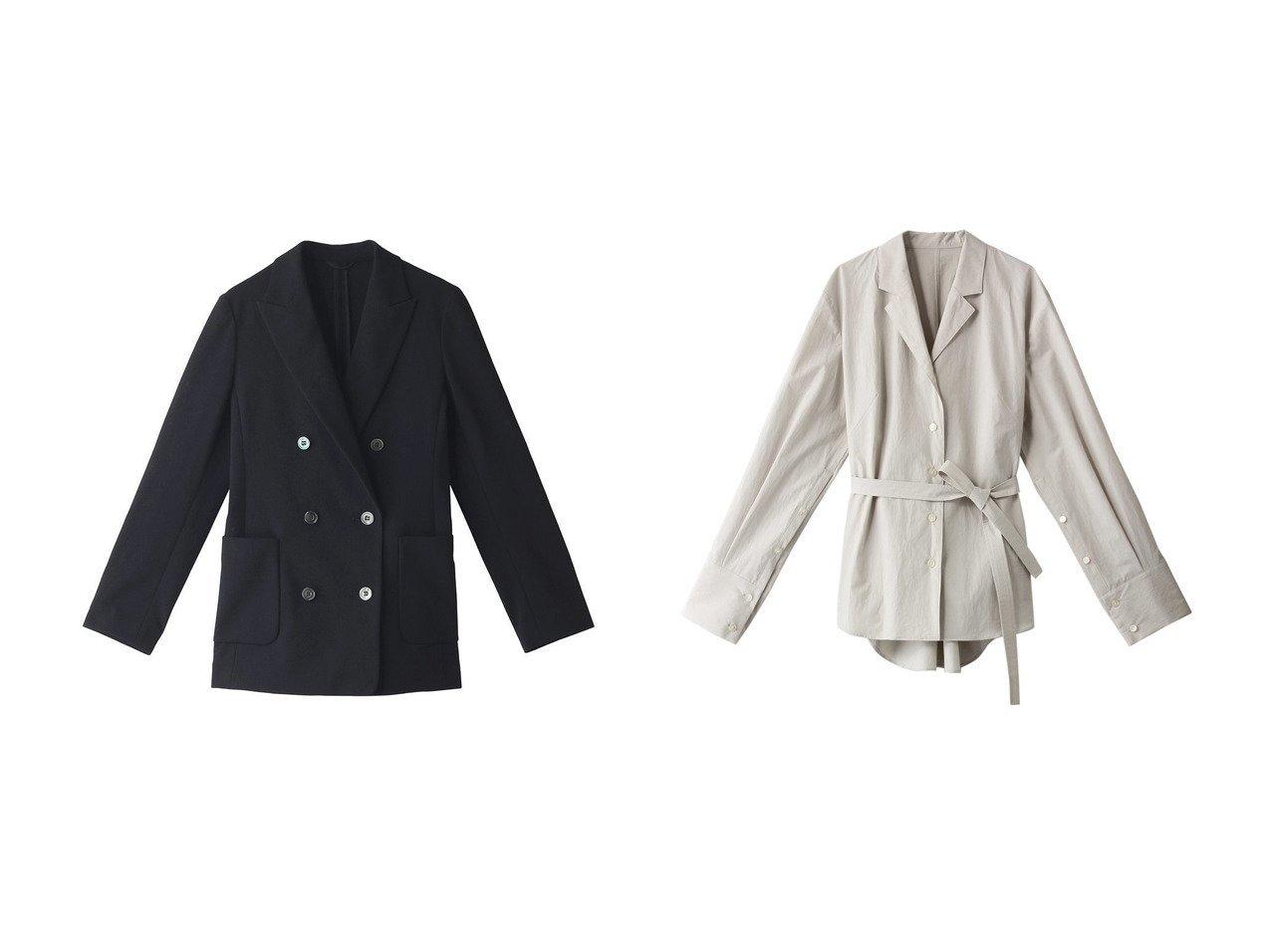 【ANAYI/アナイ】のカラミダブルボタンジャケット&【LE CIEL BLEU/ルシェル ブルー】のバックツイストテーラードジャケット 【アウター】おすすめ!人気、トレンド・レディースファッションの通販 おすすめで人気の流行・トレンド、ファッションの通販商品 インテリア・家具・メンズファッション・キッズファッション・レディースファッション・服の通販 founy(ファニー) https://founy.com/ ファッション Fashion レディースファッション WOMEN アウター Coat Outerwear ジャケット Jackets テーラードジャケット Tailored Jackets オケージョン ジャケット S/S・春夏 SS・Spring/Summer シンプル ツイスト ボトム 春 Spring  ID:crp329100000043350