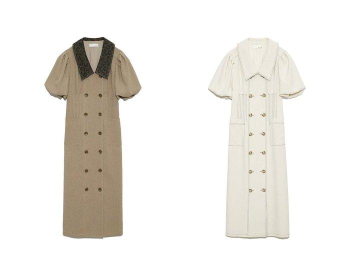 【Lily Brown/リリーブラウン】のボリュームスリーブワンピース 【ワンピース・ドレス】おすすめ!人気、トレンド・レディースファッションの通販 おすすめ人気トレンドファッション通販アイテム 人気、トレンドファッション・服の通販 founy(ファニー) ファッション Fashion レディースファッション WOMEN ワンピース Dress マキシワンピース Maxi Dress NEW・新作・新着・新入荷 New Arrivals クラシカル シャーリング スリーブ ダブル デニム マキシ リボン レオパード ロング ワーク |ID:crp329100000043380