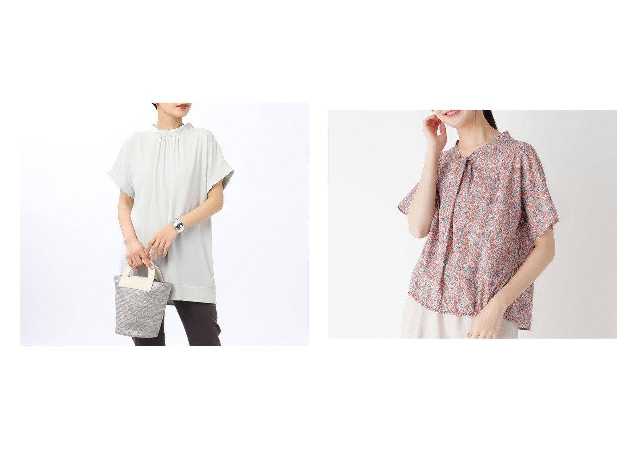 【UNTITLED/アンタイトル】のエコプラネットジョーゼット バックリボンブラウス&【esche/エッシュ】の更紗柄フレンチガーゼブラウス おすすめ!人気トレンド・レディースファッション通販 おすすめで人気の流行・トレンド、ファッションの通販商品 インテリア・家具・メンズファッション・キッズファッション・レディースファッション・服の通販 founy(ファニー) https://founy.com/ ファッション Fashion レディースファッション WOMEN トップス・カットソー Tops/Tshirt シャツ/ブラウス Shirts/Blouses 2021年 2021 2021春夏・S/S SS/Spring/Summer/2021 S/S・春夏 SS・Spring/Summer おすすめ Recommend インナー ギャザー デコルテ ハイネック ファブリック フェミニン リボン 春 Spring |ID:crp329100000043699