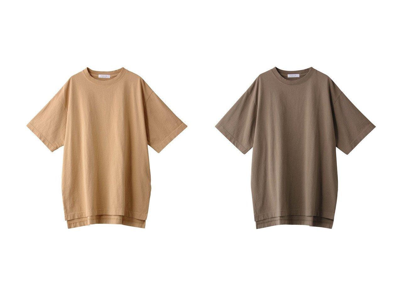 【GALLARDAGALANTE/ガリャルダガランテ】の【CALUX】オーバーサイズTシャツ/別注 別注・限定・コラボなど、おすすめ!人気トレンド・レディースファッション通販 おすすめで人気の流行・トレンド、ファッションの通販商品 インテリア・家具・メンズファッション・キッズファッション・レディースファッション・服の通販 founy(ファニー) https://founy.com/ ファッション Fashion レディースファッション WOMEN トップス・カットソー Tops/Tshirt シャツ/ブラウス Shirts/Blouses ロング / Tシャツ T-Shirts カットソー Cut and Sewn インナー ショート シンプル スリット スリーブ 別注 定番 Standard |ID:crp329100000043867