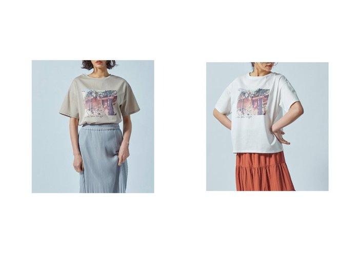 【LAUTRE AMONT/ロートレ アモン】の【WEB別注】フォトグラフプリントTシャツ 別注・限定・コラボなど、おすすめ!人気トレンド・レディースファッション通販 おすすめ人気トレンドファッション通販アイテム 人気、トレンドファッション・服の通販 founy(ファニー) ファッション Fashion レディースファッション WOMEN トップス・カットソー Tops/Tshirt シャツ/ブラウス Shirts/Blouses ロング / Tシャツ T-Shirts A/W・秋冬 AW・Autumn/Winter・FW・Fall-Winter シンプル ジャージ ドレープ ミックス 別注 |ID:crp329100000043871