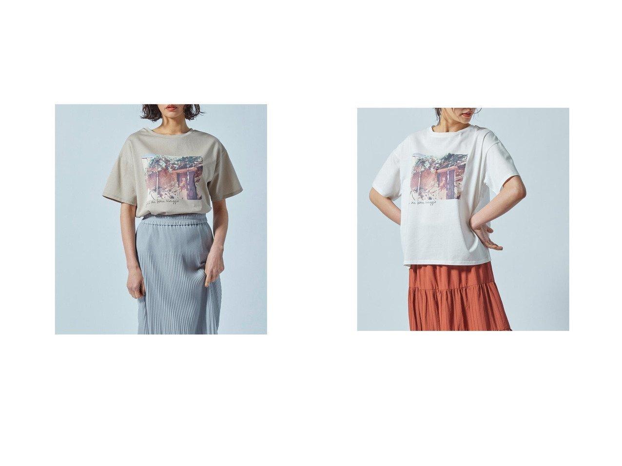 【LAUTRE AMONT/ロートレ アモン】の【WEB別注】フォトグラフプリントTシャツ 別注・限定・コラボなど、おすすめ!人気トレンド・レディースファッション通販 おすすめで人気の流行・トレンド、ファッションの通販商品 インテリア・家具・メンズファッション・キッズファッション・レディースファッション・服の通販 founy(ファニー) https://founy.com/ ファッション Fashion レディースファッション WOMEN トップス・カットソー Tops/Tshirt シャツ/ブラウス Shirts/Blouses ロング / Tシャツ T-Shirts A/W・秋冬 AW・Autumn/Winter・FW・Fall-Winter シンプル ジャージ ドレープ ミックス 別注 |ID:crp329100000043871