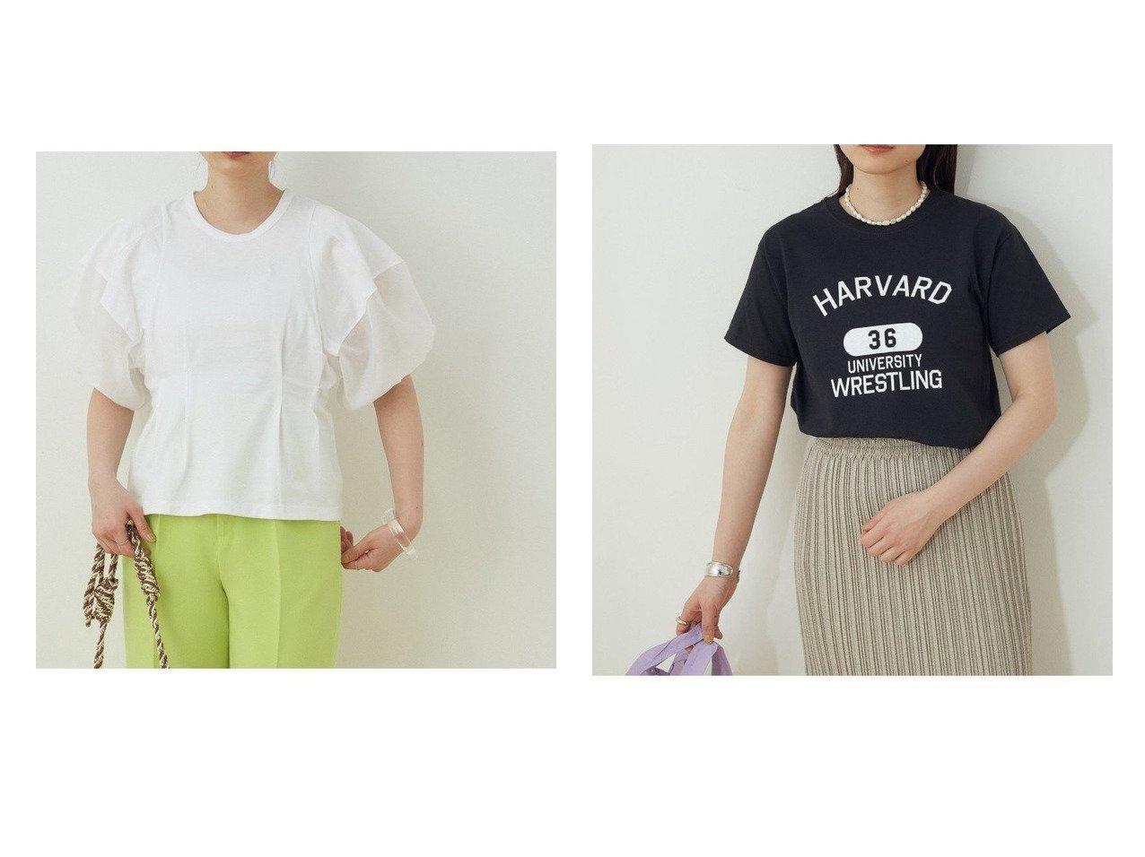 【ADAM ET ROPE'/アダム エ ロペ】の【WEB限定】ファブリックコンビプルオーバー&【WEB限定】カレッジTEE 別注・限定・コラボなど、おすすめ!人気トレンド・レディースファッション通販 おすすめで人気の流行・トレンド、ファッションの通販商品 インテリア・家具・メンズファッション・キッズファッション・レディースファッション・服の通販 founy(ファニー) https://founy.com/ ファッション Fashion レディースファッション WOMEN トップス・カットソー Tops/Tshirt プルオーバー Pullover カットソー Cut and Sewn インナー オーガンジー 春 Spring カットソー シアー シェイプ スラックス スリム 定番 Standard ボトム ポケット 2021年 2021 S/S・春夏 SS・Spring/Summer 2021春夏・S/S SS/Spring/Summer/2021 NEW・新作・新着・新入荷 New Arrivals おすすめ Recommend  ID:crp329100000043903
