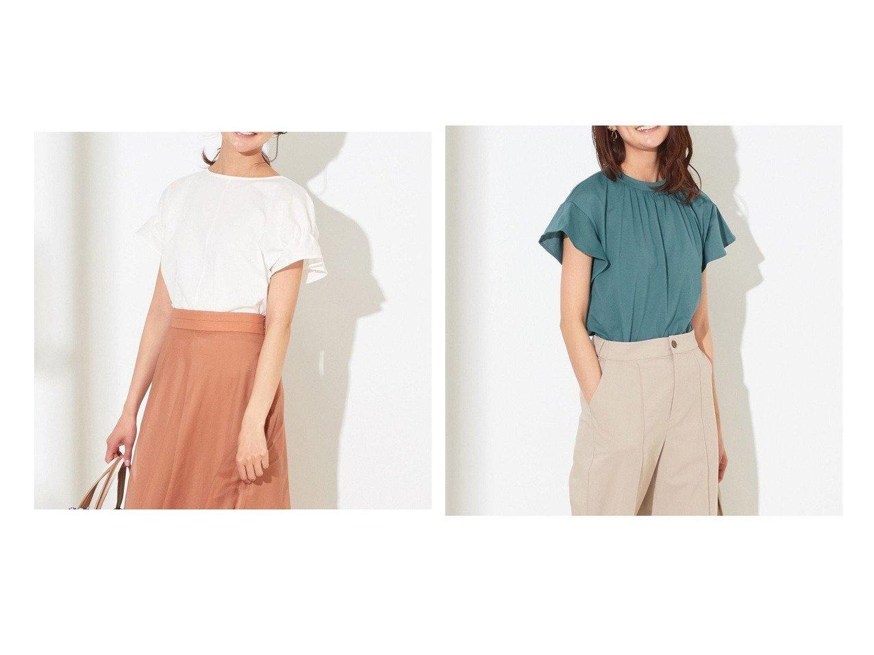 【any SiS/エニィ スィス】の【NAIL HOLICコラボ】タックスリーブ Tシャツ&【NAIL HOLICコラボ】スタンドネック Tシャツ 別注・限定・コラボなど、おすすめ!人気トレンド・レディースファッション通販 おすすめで人気の流行・トレンド、ファッションの通販商品 インテリア・家具・メンズファッション・キッズファッション・レディースファッション・服の通販 founy(ファニー) https://founy.com/ ファッション Fashion レディースファッション WOMEN トップス・カットソー Tops/Tshirt シャツ/ブラウス Shirts/Blouses ロング / Tシャツ T-Shirts カットソー Cut and Sewn カットソー コラボ 吸水 シャーリング スリーブ ネイル バランス フェミニン フリル フレンチ 送料無料 Free Shipping プチプライス・低価格 Affordable |ID:crp329100000043918