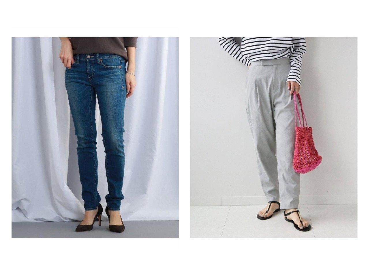 【JET/ジェット】のSANTA MONICA スリムフィットデニム&【JOURNAL STANDARD relume/ジャーナルスタンダード レリューム】のALTORITMOテーパードパンツ 【パンツ】おすすめ!人気、トレンド・レディースファッションの通販 おすすめで人気の流行・トレンド、ファッションの通販商品 インテリア・家具・メンズファッション・キッズファッション・レディースファッション・服の通販 founy(ファニー) https://founy.com/ ファッション Fashion レディースファッション WOMEN パンツ Pants ジーンズ ストレッチ デニム フィット 2021年 2021 2021春夏・S/S SS/Spring/Summer/2021 S/S・春夏 SS・Spring/Summer トレンド ベーシック 吸水  ID:crp329100000043933