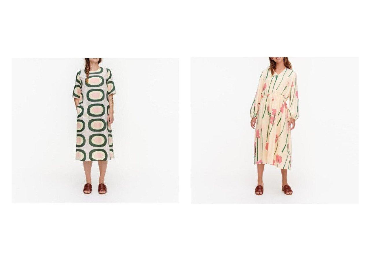 【marimekko/マリメッコ】のHuomenna Pieni Melooni ワンピース&Niitty Torin Kukat ワンピース おすすめ!人気トレンド・レディースファッション通販 おすすめで人気の流行・トレンド、ファッションの通販商品 インテリア・家具・メンズファッション・キッズファッション・レディースファッション・服の通販 founy(ファニー) https://founy.com/ ファッション Fashion レディースファッション WOMEN ワンピース Dress サマー スリーブ ハーフ プリント ポケット モチーフ ギャザー フェミニン |ID:crp329100000044023