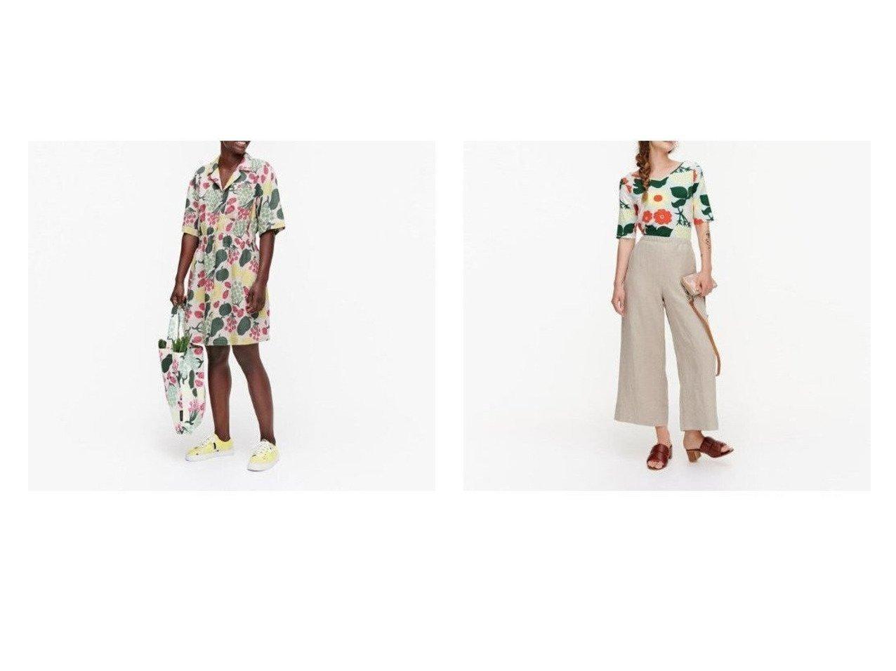 【marimekko/マリメッコ】のHerkku Pieni Tori ワンピース&Marssi パンツ おすすめ!人気トレンド・レディースファッション通販 おすすめで人気の流行・トレンド、ファッションの通販商品 インテリア・家具・メンズファッション・キッズファッション・レディースファッション・服の通販 founy(ファニー) https://founy.com/ ファッション Fashion レディースファッション WOMEN ワンピース Dress シャツワンピース Shirt Dresses パンツ Pants ポケット サマー シンプル ベーシック ワイド |ID:crp329100000044024