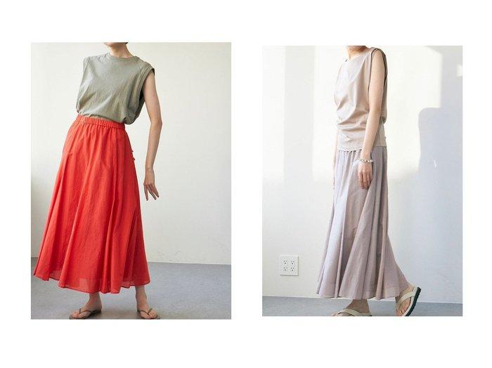 【GALLARDAGALANTE/ガリャルダガランテ】のコットンシルクフレアスカート 【スカート】おすすめ!人気、トレンド・レディースファッションの通販 おすすめ人気トレンドファッション通販アイテム 人気、トレンドファッション・服の通販 founy(ファニー) ファッション Fashion レディースファッション WOMEN スカート Skirt Aライン/フレアスカート Flared A-Line Skirts ロングスカート Long Skirt シルク フレア ロング |ID:crp329100000044040